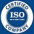 Certyfikat ISO - opakowania transportowe